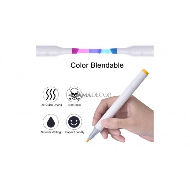 Set 36 culori Markere pentru colorat cu 2 capete Art Marker